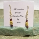 Beautiful Pair of 14Karat Gold Genuine Garnet Gemstone Pierced Earrings