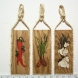 Vegetable Wall Plaques Dk Oak  Set of 3