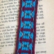 Maroon-turquoise Bookmark