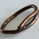 """Twig"" copper ring"