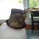 WIne velvet mini top hat