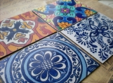Spanish Colonial Tiles in Magnetic Art