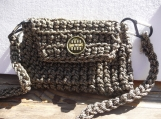 Industrial Chic Bag made of Crocheted Rope