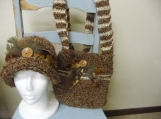 Retro Style Bag and Matching Cloche Style Hat.