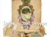 Shabby Lady Collage Applique Fabric Quilt Block 14-0077