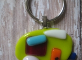 Camper glass fused Key Chain Glamping Girls