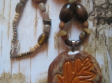Dont Leaf me behind handmade leaf pendant  rustic necklace
