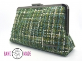 Olea 10 Clutch: Green Tweed