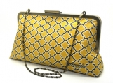 Olea 10 Clutch: Mustard Lattice