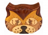 Cat & Mouse Wooden Puzzle Box