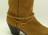 DC108 Gold and Brown Boot Chain