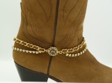 DC126 Gold and Rhinestone Boot Chain