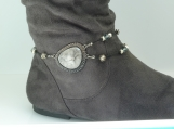 DC136 Gray and Black Marble Boot Chain