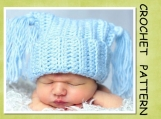 PDF Pattern - Ribbed Jester Hat Crochet Pattern- 4 sizes