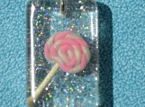 Polymer Clay Lollipop Resin Pendant Necklace