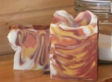 Ablaze, scented handmade cold process soap