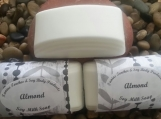 Almond Scented Soy Milk Body Soap with glycerine coconut oil