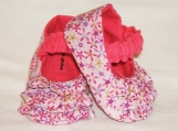 Baby Booties - Ruffles, 0 - 18 Months - Floral Mary Janes