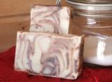 Cocoa Swirl Castile, unscented handmade cold-process soap