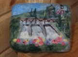 "Felted Soap Landscape ""The Falls"", scented handcrafted cold-process soap"