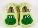 Frog Baby Booties, 0 - 18 Months
