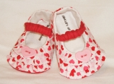 Hearts & Ruffles Baby Booties, 0 - 18 Months, Mary Janes