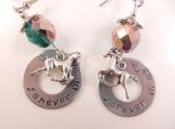 Custom-Horse memorial earrings
