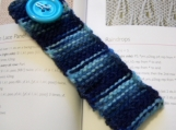 Stiff Knit Bookmark - Signature Blue