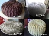 4 Knitted Pouf Floor cushion Patterns & Tutorials