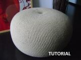 DIY Tutorial Large Crochet Pouf Poof, Ottoman