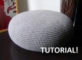 Pattern DIY Tutorial Large Crochet Pouf