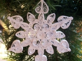 White as Snow, Holiday Quilled Snowflake Ornament