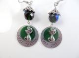 Custom hand stamped-best friend- earrings