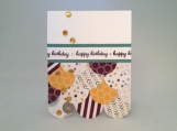 Happy Birthday card in blackberry, lagoon blue, and yellow