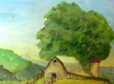 Barn With Silo Tile - AGS 155