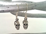 Mini Skull Earrings in Silver or Gold