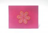 Pink/White/Orange Flower Note Card Keepsake