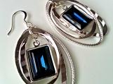 Swarovski Deep Blue Crystal Earrings