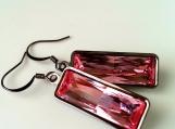 Swarovski Light Rose Crystal Earrings