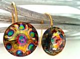 Swarovski Peacock Crystal Earrings