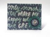 You Make Me Happy w/Denim Flower Note Card Keepsake