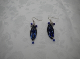 Blue Masquerade earrings