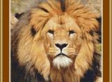 Lion Face Cross Stitch Pattern