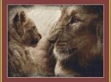 Lion Love Cross Stitch Pattern