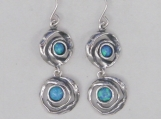 Shablool Israel Handcrafted Classic Opal Sterling Silver Earings