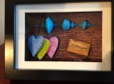 Personalized 3D sound wave/voice print art message for him her