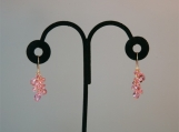 Pink Swarovski Cluster Drop Earrings