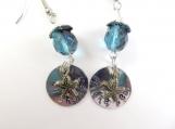 Mini hand stamped starfish earrings