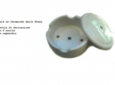 Junction box in ceramic with lid