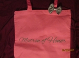 Personalized Tote Bags with Ribbon